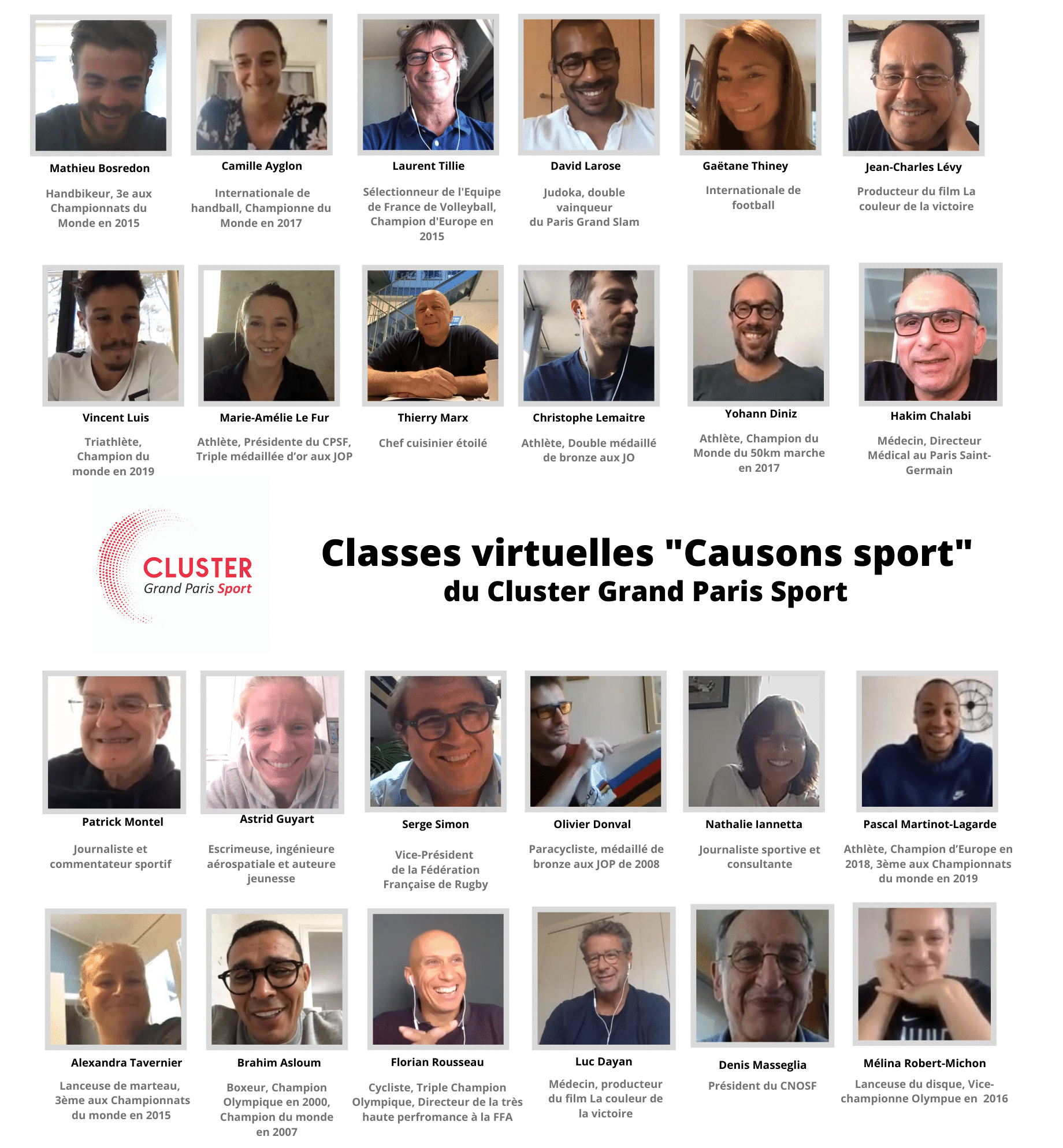Classes virtuelles Cluster Grand Paris Sport 9